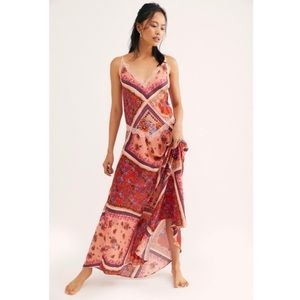 Free People NWT Stevie Floral Lace Trim Maxi Dress
